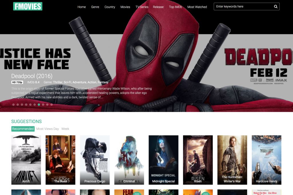 a free movies website