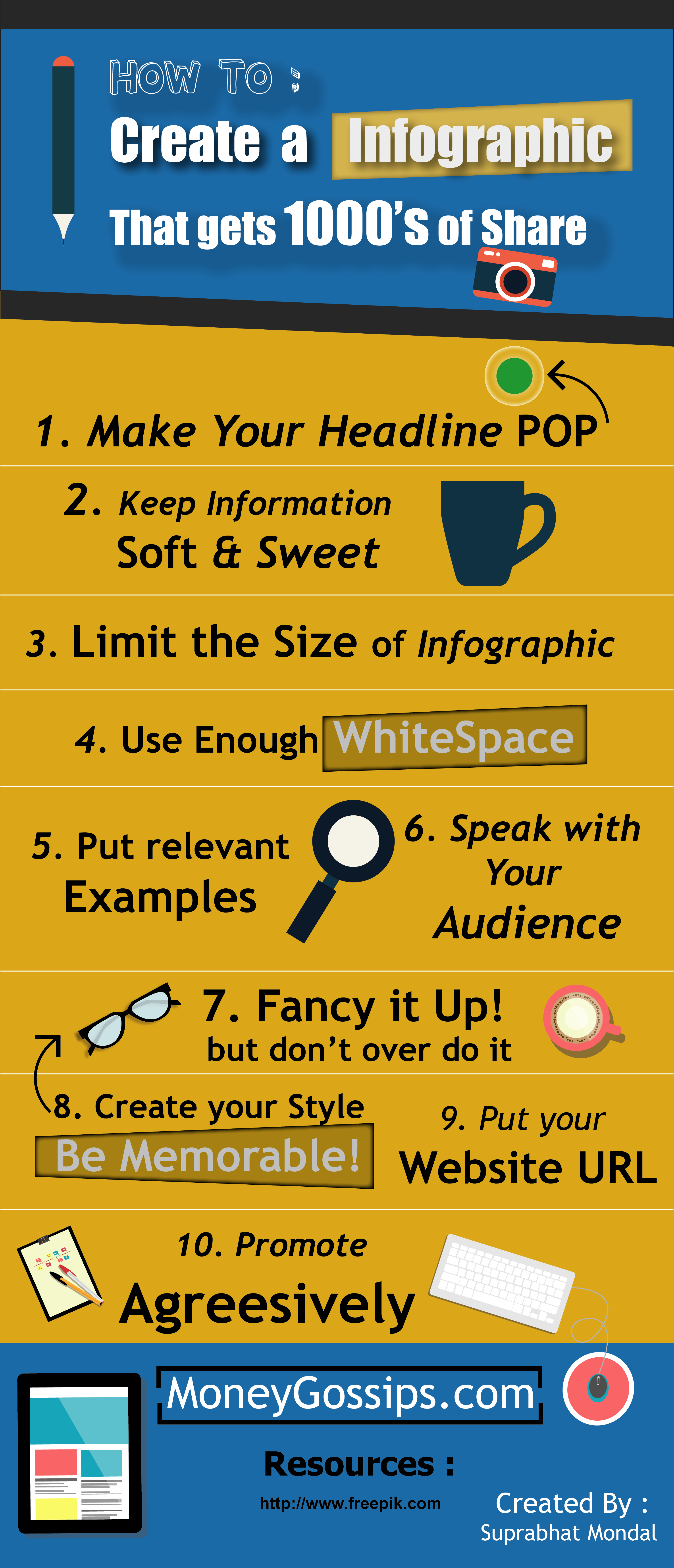 How to Create a infographic that gets 1000 of share