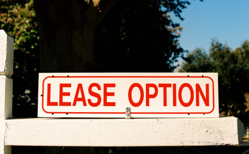 Lease option for real estate
