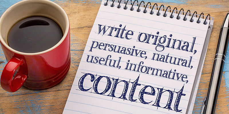 Write Content to start an SEO campaign